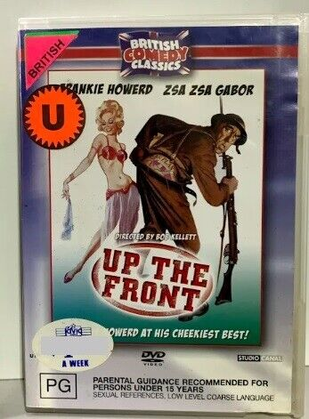 DVD EX-RENTAL - Up The Front - British Comedy Classic -  RARE - FREE POST #P2