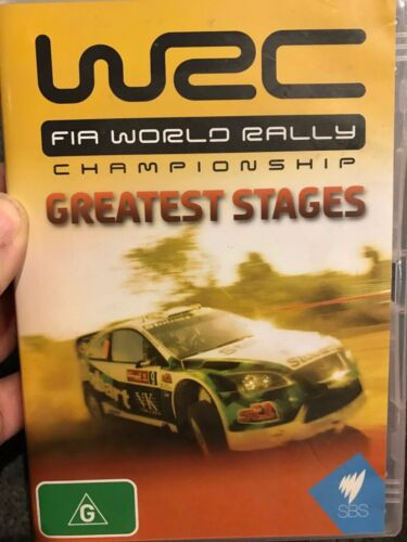WRC FIA World Rally Championship - Greatest Stages region 4 DVD (cars)