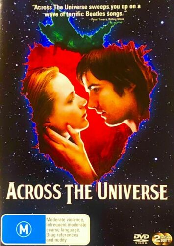Across The Universe R4 Dvd Rare oop 2 disc set very good condition  t101