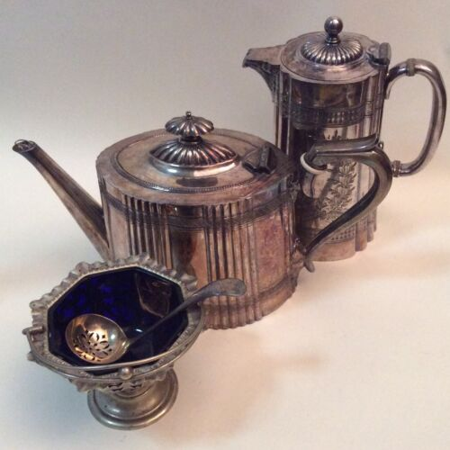 3 Antique Silver Plated Coffee/Tea Serving Pieces