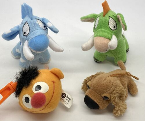 Lot Of 4 Mcdonalds Happy Meal Toys - 2003-2005 Neopets Sesame Street The Dog