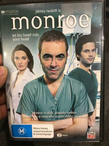 Monroe Season 1 region 4 DVD (2 discs) James Nesbitt British drama TV series