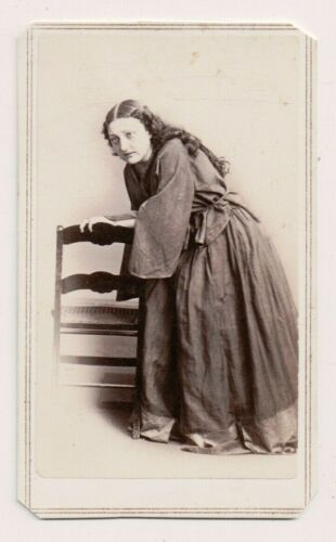Vintage CDV Kate Josephine Bateman Actress C.D.Frederick's Photo Tax Stamp