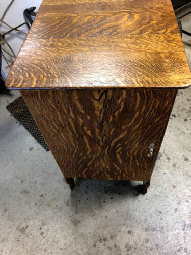 Oak Sheet Music Cabinet Convered To Wine Cabinet