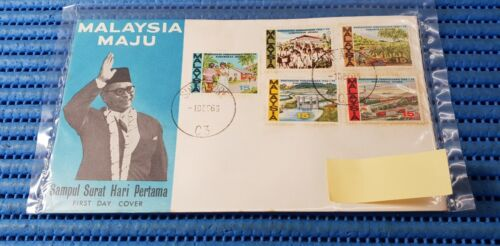 1966 Malaysia First Day Cover Malaysia Maju Commemorative Stamp Issue