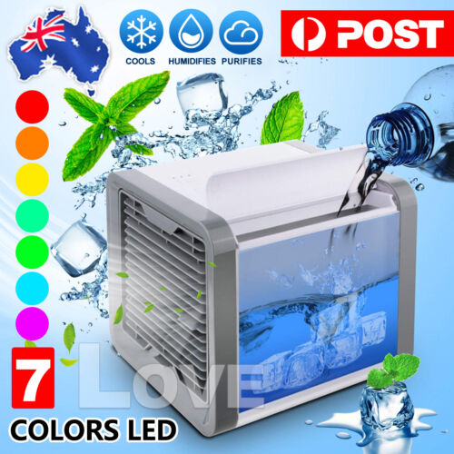 Fan Portable Mini Air Cooler Air Conditioner Cool Cooling For Bedroom Desk