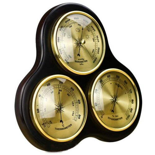 3 Pieces Hygrometer Barometer Thermometer 90mm Diameter Instruments