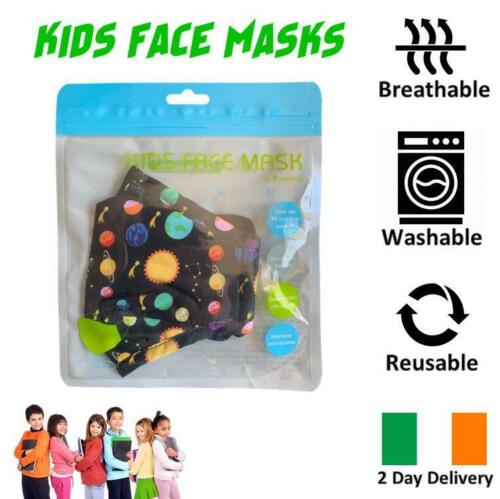 KIDS FACE MASK ULTRA SOFT BREATHABLE REUSABLE & WASHABLE IRISH 2 DAY DELIVERY