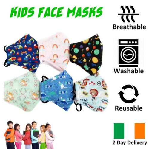 KIDS FACE MASK ULTRA SOFT BREATHABLE & WASHABLE IRISH 2 DAY DELIVERY (6 STYLES)