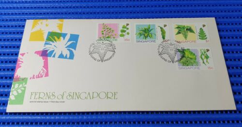 1990 Singapore First Day Cover Ferns of Singapore Special Stamp Issue