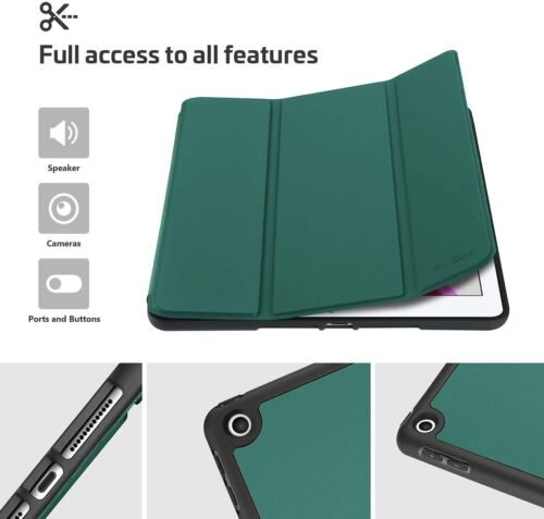 iPad 10.2 Case 2019 7th Gen with Pencil Holder Ultra Slim Lightweight Back Cover