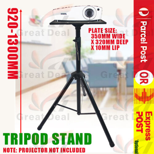Projector Tripod Stand Aluminium Adjustable For Laptop With Tray 90-130cm Height