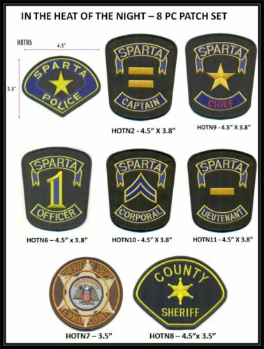 IN THE HEAT OF THE NIGHT - 8 PIECE  PATCH SET - (2/5-11)