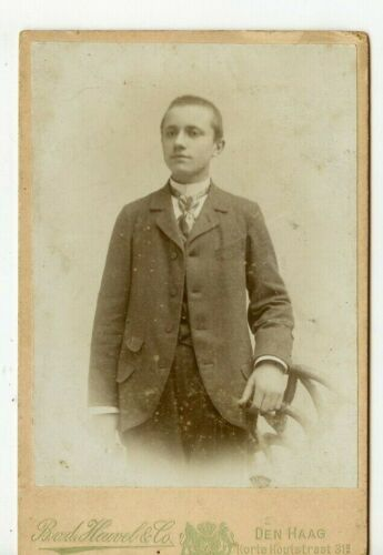 Cabinet Photo, Young Man by Heuvel & Co, Den Haag, Netherlands - P35