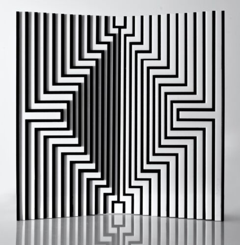 LUISA RUSSO SCULPTURE NO Karim Rashid Danese Milano kinetic sculpture op art