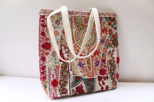 Antique Old Hand Work Embroidery Textile Used To Make Woman Hand Bag NH2882