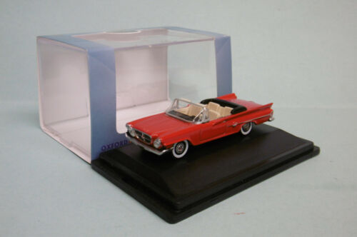 Oxford - CHRYSLER 300 Convertible 1961 rouge Voiture US Neuf HO 1/87