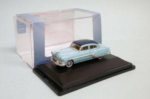 Oxford - PONTIAC CHIEFTAIN 4 door 1954 bleu Voiture US Neuf HO 1/87
