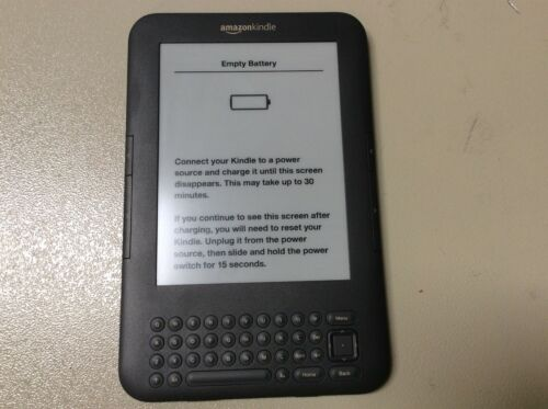 """[C] Genuine Amazon Kindle E-Reader 6"""" D00901 3rd Gen 4GB Touch WiFi Ink Display"""