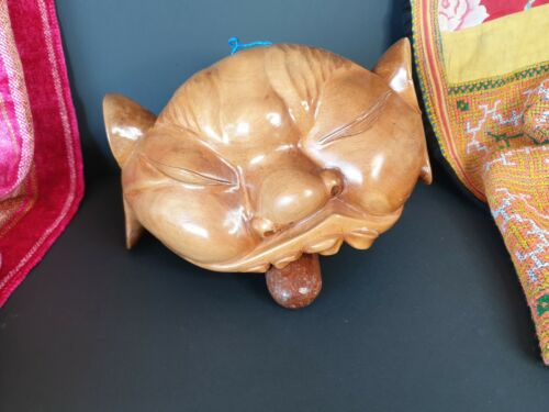 Old Balinese Carved Wooden Cow Bell …beautiful collection and accent piece