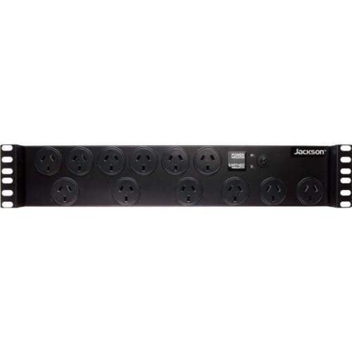 """Jackson 19"""" Rack Mount 12-Way Power Board with Surge Protection"""