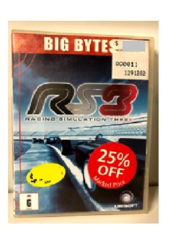 GAME - PC CD-ROM - RS3 Racing Simulation 3 - DISC ONLY - FREE POST #P2
