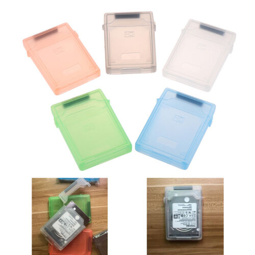 2.5'' IDE SATA HDD Hard Drive Disk Plastic Storage Box Case Enclosure CoverB.AU