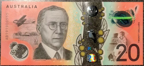 🇦🇺2019 Australian $20 Dollar Note First Prefix AA Banknotes Early Release Rare