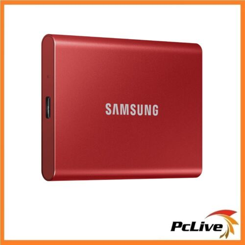 Samsung 500GB Portable SSD T7 RED Aluminium USB 3.2 Gen 2 Type-C PC MAC Backup