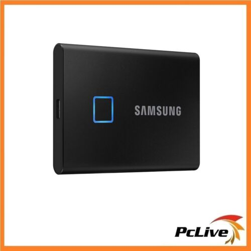 NEW Samsung 500GB Portable SSD T7 Touch Black USB 3.2 Gen2 Fingerprint Security