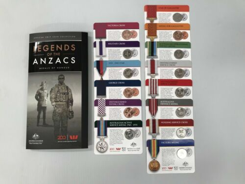 LEGENDS OF THE ANZACS - OFFICIAL AUSTRALIAN 2017 COMPLETE COINS COLLECTION SET Other Eras, Wars - 135
