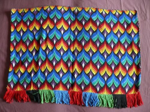 Beautiful Vintage Bargello Embroidery Tapestry 94cm/70cm(37''x 27.5'') #1973
