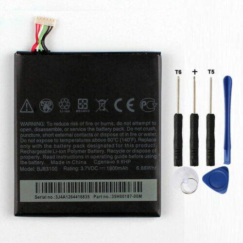 Replacement Battery with Tools for HTC One X G23 S720e BJ83100 1800mAh