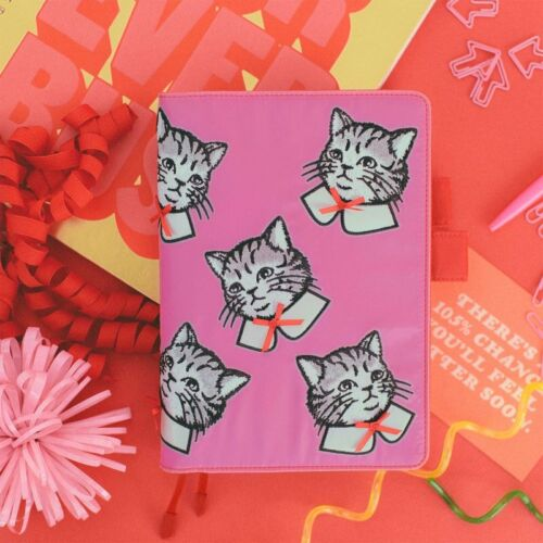Hobonichi Techo A5 Size Cover ONLY Candy Stripper Spruced-up Cat Candy Pink