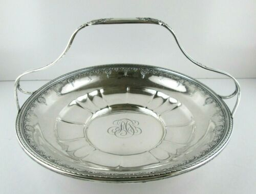 NAVARRE by Watson Sterling Silver Basket with Shells on Handle 10 in.