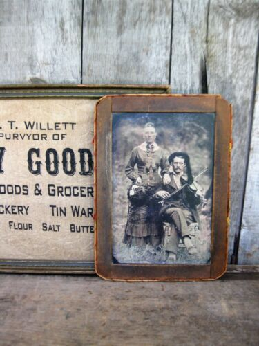 Primitive Early Antique School Slate Chalk Board w Old Photo Print Free Shipping