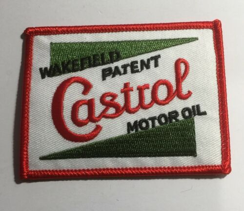 Castrol Motor Oil, Wakefield Patent, Embroidered Sew/iron on, patch, cars, Badge