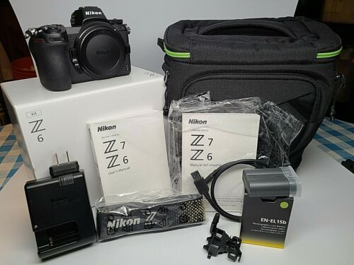 Nikon Z6 Camera Body, Mint Condition, Low Shutter Count: 1327 Xtra Battery, Case