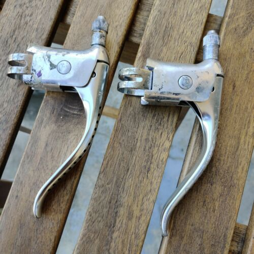 Dia Compe vintage fully drilled road brake levers