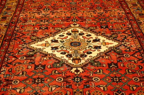 """C 1930s ANTIQUE PERSIAN LILIHAN RUG  5'5"""" x 10'3 MANY LISTED HERE AT SALE PRICES"""