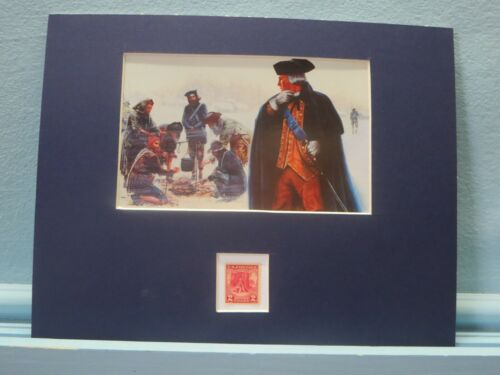 George Washington at Valley Forge and the stamp issued to honor Valley ForgeReenactment & Reproductions - 156378