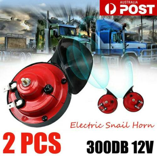 2XUniversal 300DB 12V Car Electric Loud Snail Air Horn For Truck Boat Motorcycle