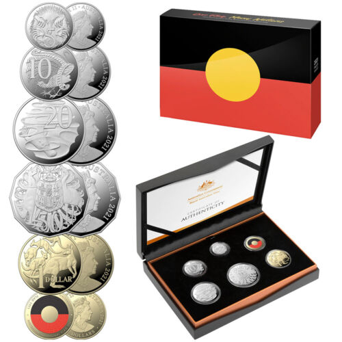 NEW RA Mint 2021 Proof Coin Set 50th Annv. Aboriginal Flag