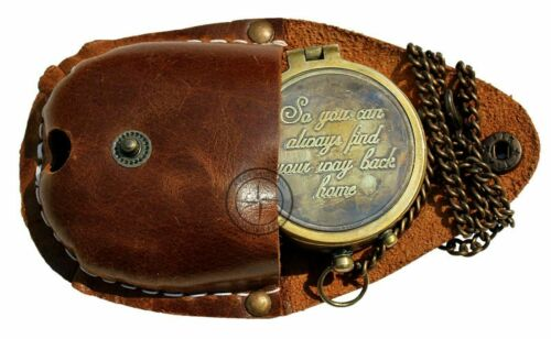"""""""So You Can Always Find Your Way Back Home"""", Camping Compass Engraved"""