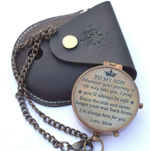 To My Son Personalized Brass Compass,Son from Dad, Gift for son, Mother Son Gift