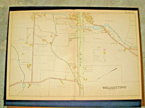 1904 MAP OF WILLIAMSTOWN, MA., ABOUT 22X32 INCHES, VERY GOOD CONDITION