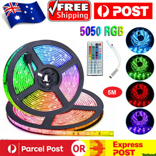 5050 RGB LED Strip Lights 5M IP65 Waterproof 12V+44 KEY IR CONTROLLER