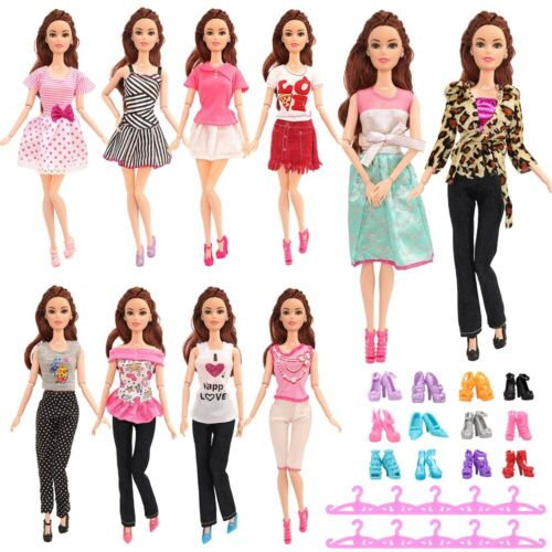 NEW 30pcs Barbie Doll Dresses Clothes Accessory INCLUDES 10 HIGH QUALITY OUTFIT <br/> POSTED UK ROYAL MAIL 1ST CLASS  DELIVERED WITHIN 48 HRS
