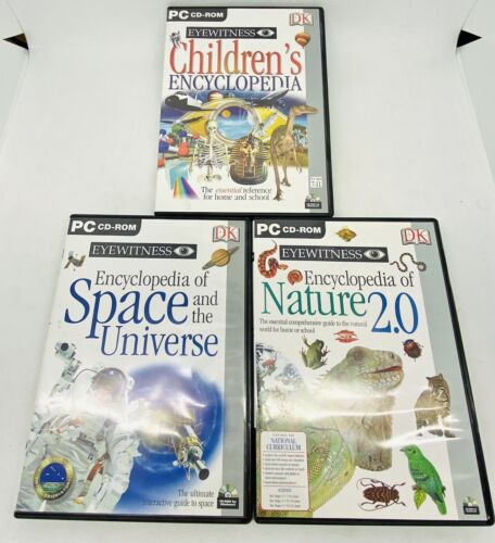 DK Eyewitess 3 X PC CD-ROM - Childrens Encyclopedia, Space Universe & Nature 2.0