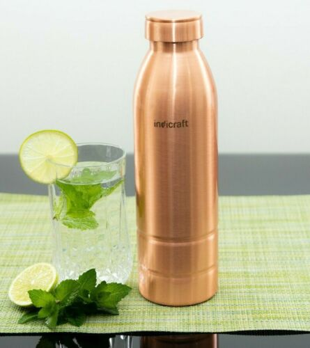 High Quality, Indicraft Pure Copper Bottle, 950ML, Water Bottle,Yoga, Aayurveda